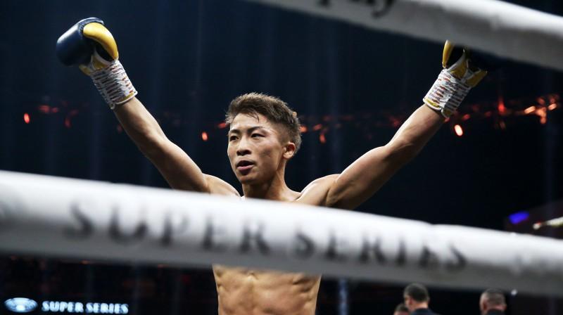 Naoja Inoue pēc uzvaras Supersērijas cīņā. Foto: EPA/Scanpix