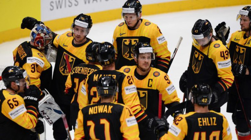 Vācijas hokejisti. Foto: AFP/Scanpix
