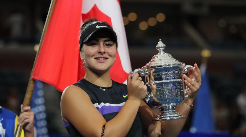 """Kanādas zvaigzne Bjanka Andresku plānojusi aizstāvēt """"US Open"""" titulu. Foto: AFP/Scanpix"""