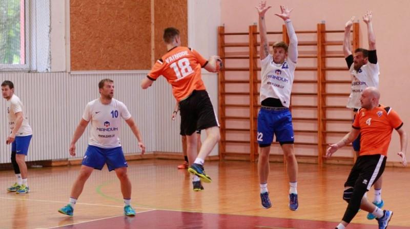 Oskars Pāvils (nr.18). Foto: Handball.lv