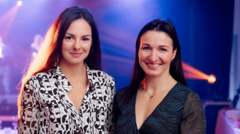 Anastasija Kravčenoka un Anastasija Grigorjeva. Foto: Daugavpils Olimpiskais centrs