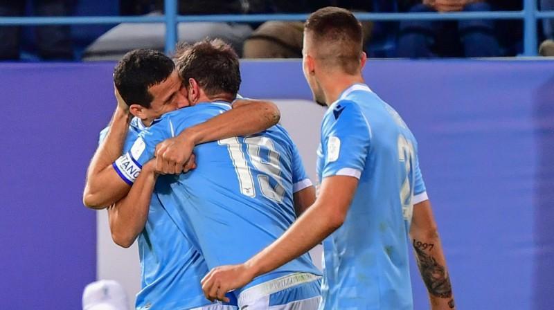 """Romas """"Lazio"""" svin uzvaras vārtus. Foto: AFP/Scanpix"""