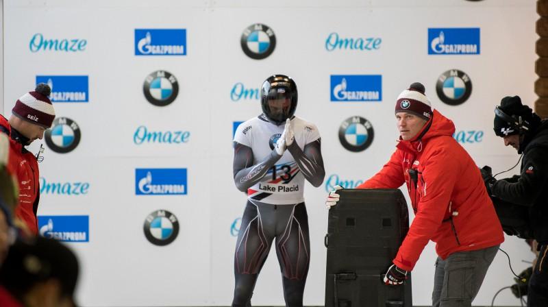 Martins Dukurs startā. Foto: Viesturs Lācis/bobslejs.lv