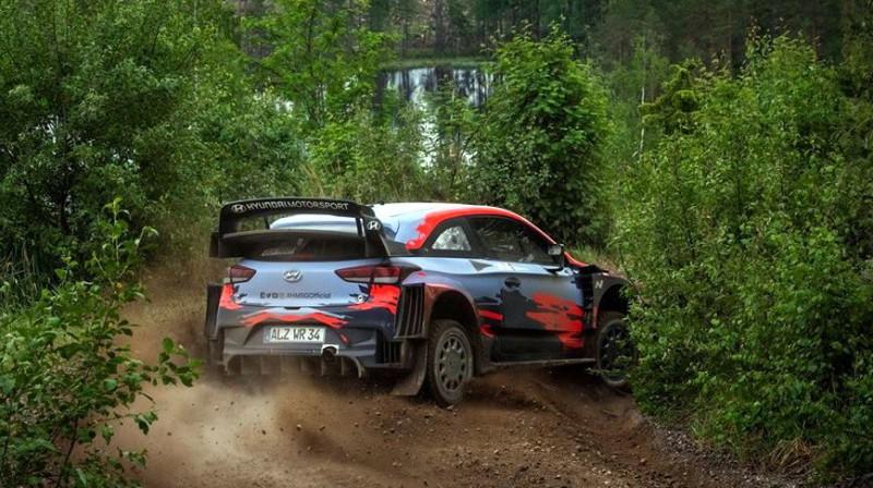 Ots Tanaks testos Somijā. Foto: Hyundai Motorsport