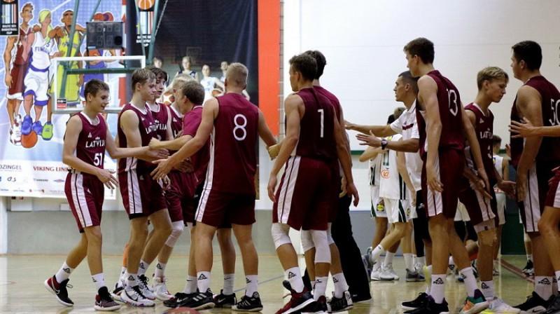 Latvijas U15 izlase: trešā vieta Baltijas kausā. Foto: Siim Semiskar, basket.ee