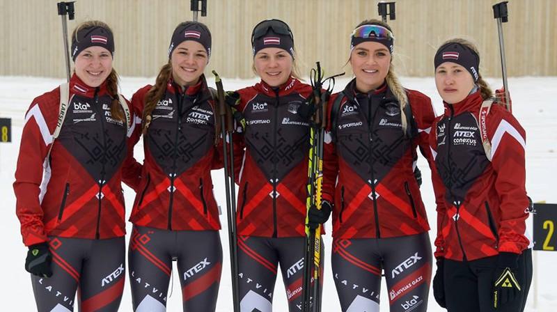 Latvijas juniorēm šajā februārī Eiropas čempionātā Madonā nebūs iespēja piedalīties. Foto: Latvijas Biatlona Federācija