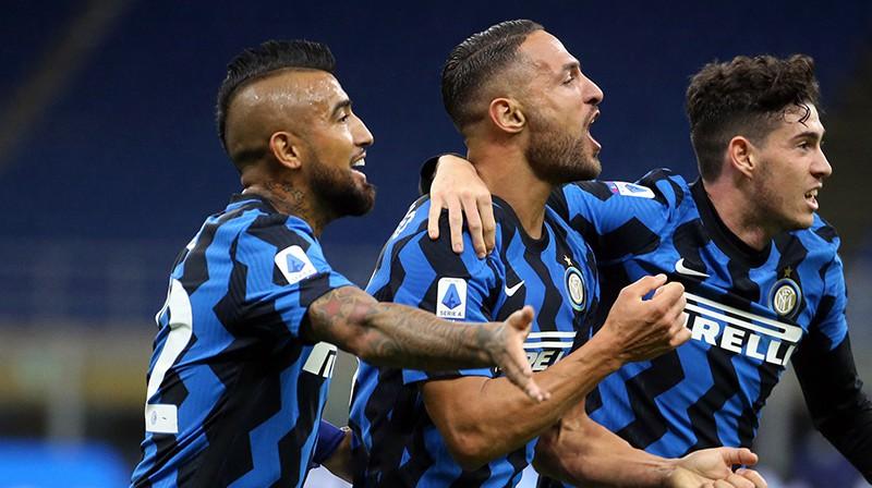 """Inter"" futbolisti svin uzvaras vārtus. Foto: EPA/Scanpix"