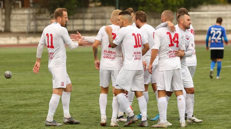 """Daugavpils """"Lokomotiv"""" futbolisti. Foto: FC Lokomotiv Daugavpils"""