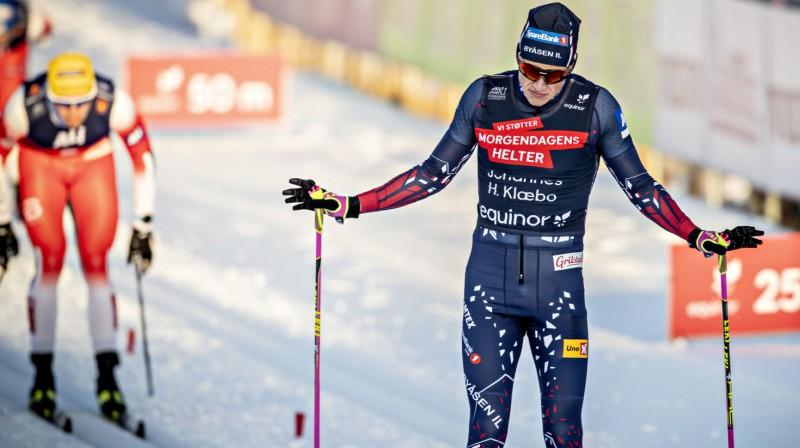 Juhanness Hesflots Klēbo finišē finālā. Foto: Bjerns Langsems / Dagbladet
