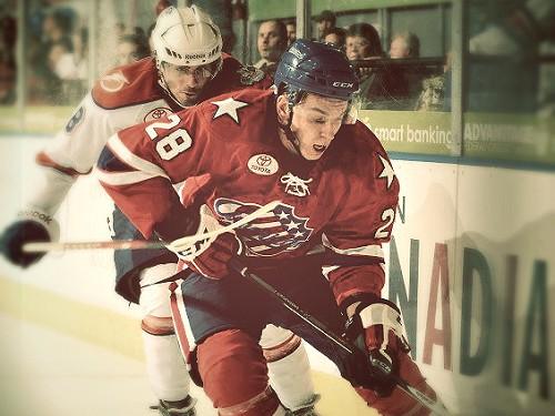 Girgensons gūst pirmos vārtus AHL