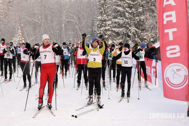"""Otrais """"FANS"""" tautas slēpojuma posms Vietalvā kopā ar Latvijas čempionātu"""