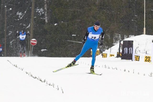 Slēpotājs I.Bikše pasaules čempionātā junioriem skiatlonā ārpus septiņdesmitnieka
