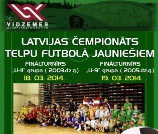 18.un19. martā VOC notiks LČ telpu futbola sacensības jauniešiem