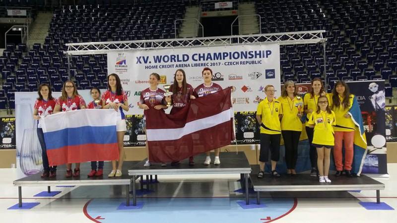 Pēc pirmās dienas Pasaules čempionātā Latvijai viens zelts