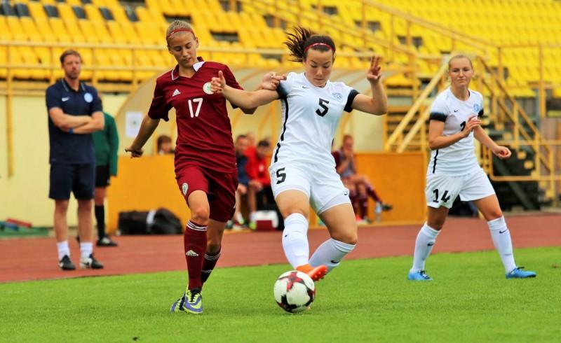 Meiteņu izlase pārtrauc 23 zaudējumu sēriju kvalifikācijas spēlēs