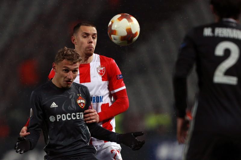 """""""Crvena Zvezda"""" un CSKA Belgradā spēlē neizšķirti"""