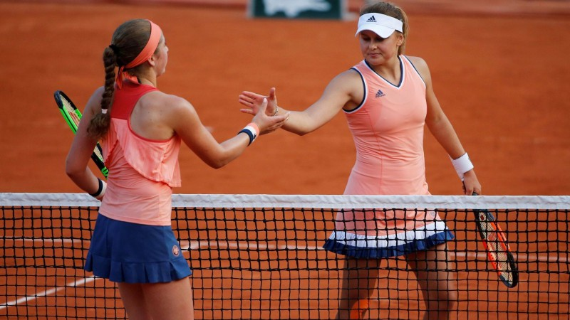 """Ostapenko uzvarējusī Kozlova vēl nesen nav zinājusi, vai spēlēs """"French Open"""""""