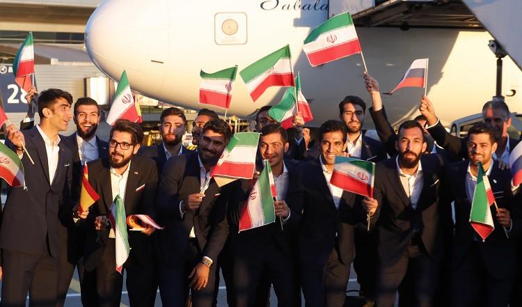 Irānas izlase pirmā ierodas Krievijā
