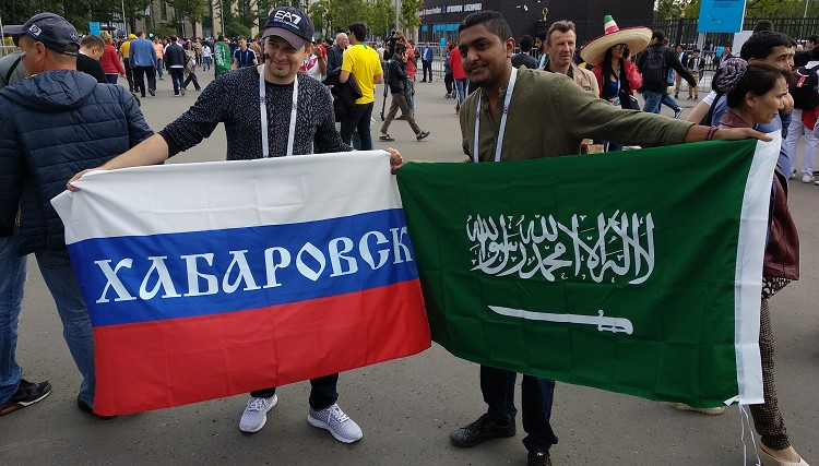 1. diena: ceļojuma sākums, nemanāmie krievu līdzjutēji, vājie arābi