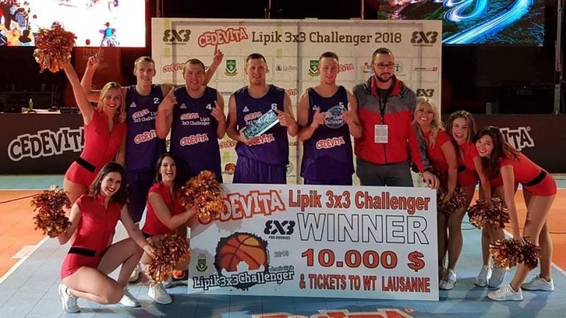 "3x3 basketbola izlase otro reizi šosezon triumfē ""Challenger"" turnīrā"