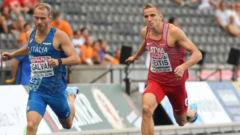 Sprinteris Leitis ar valsts rekordu iekļūst EČ pusfinālā, Velverei fiasko