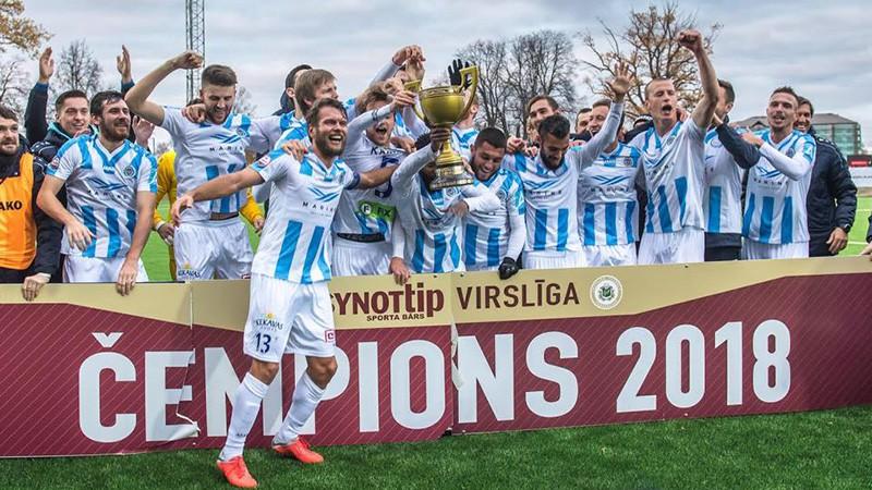"""""""Riga"""" kļūst par Virslīgas čempioni"""