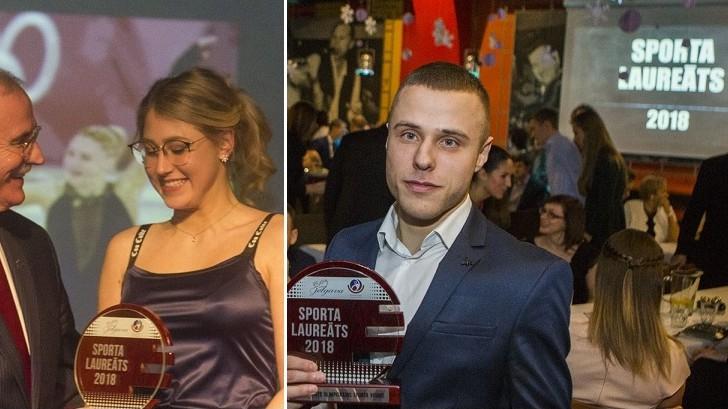 Daiļslidotāja Ņikitina un karatists Kalniņš saņem Jelgavas gada balvas