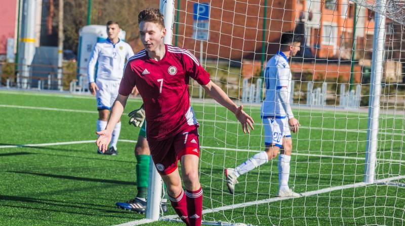 Kroļļa vārtu guvumi spēles beigās Latvijas U19 izlasei atnes uzvaru Baltijas kausā