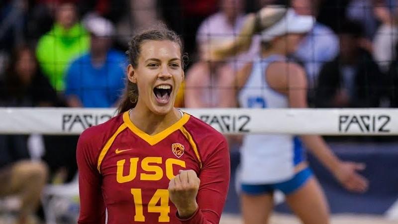 """Graudiņa/Bustamante pieveic UCLA dvīnes, USC iekļūst """"Pac-12"""" konferences finālā"""