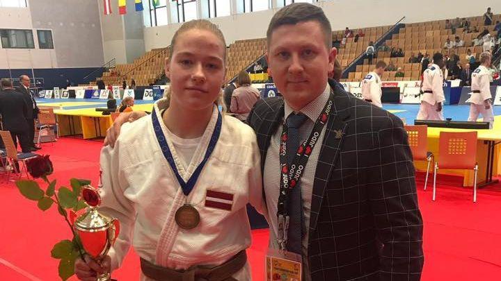 Džudiste Dolgiļeviča atkal iekļūst trijniekā Eiropas kausa posmā kadetiem