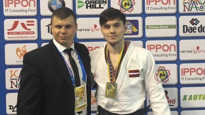 Džudists Galaktionovs uzvar Eiropas junioru kausa posmā Kauņā
