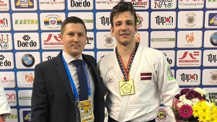 Arī džudists Gerkens izcīna zeltu Eiropas junioru kausa posmā Kauņā