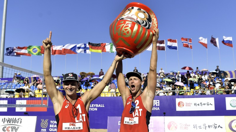 Pļaviņš un Točs izcīna Latvijai Tokijas olimpisko spēļu ceļazīmi