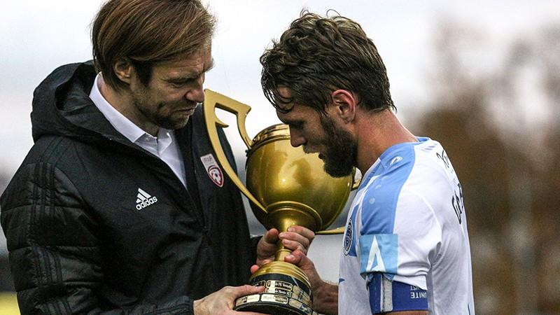 """""""Riga"""" gatava svinēt otro čempiontitulu, bet kurš pasniegs trofeju?"""