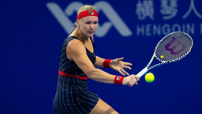 """Bertensa apspēlē Jastremsku un kļūst par """"WTA Elite Trophy"""" pirmo pusfinālisti"""