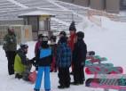 Sniega lielgabali nodrošina sportošanas apstākļus Mežaparkā