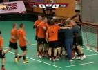 """Video: Par 1.līgas čempioniem kļūst """"Apelsīns/Talsi"""" florbolisti"""