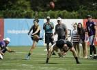 """PK uzvarējusī futboliste Loida: """"Sievietes varētu spēlēt NFL"""""""