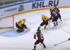 Video: Indraša un Lipona sadarbība - KHL nedēļas vārtu guvumos