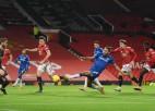 """""""Everton"""" pēdējos mirkļos izrauj neizšķirtu rezultatīvā mačā pret Mančestras """"United"""""""