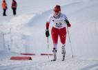 Mūsu slēpotājas nostartē priekš sevis pieklājīgi komandu sprintā