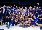 """Video: Šmits un pārējie """"Barcelona"""" spēlētāji par Karaļa kausu līksmo arī autobusā"""