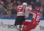 Video: Hārtlija aizsargs triumfē KHL finālu spēka paņēmienos