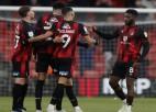''Bournemouth'' un ''Swansea'' izcīna minimālas uzvaras; tuvojas Premjerlīgai