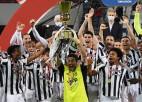 Bufons no ''Juventus'' atvadās ar uzvaru pret ''Atalanta'' un savu sesto ''Coppa Italia'' trofeju