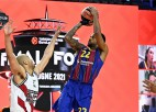 """Higinsa metiens pēdējā sekundē nodrošina """"Barcelona"""" vietu Eirolīgas finālā"""