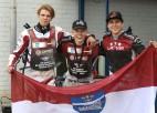 Visi trīs Latvijas spīdvejisti - U21 pasaules čempionāta finālā