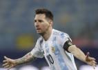 Mesi ar divām piespēlēm un vieniem vārtiem ieved Argentīnu ''Copa America'' pusfinālā