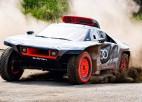 """""""Audi"""" prezentē savu pirmo Dakaras rallija auto, ko darbina elektrība"""