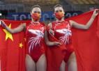 Ķīnas vingrotājas aizņem pirmās divas vietas lēcienos uz batuta